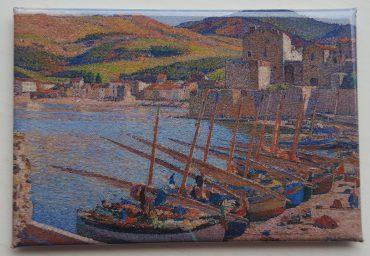 Magnet: Fiskerbåde i Coullioure