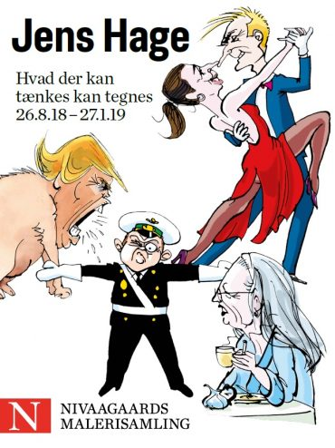 Jens Hage. Hvad der kan tænkes kan tegnes. Poster