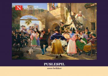 (Dansk) Puslespil med 1000 brikker (Wilhelm Marstrand)