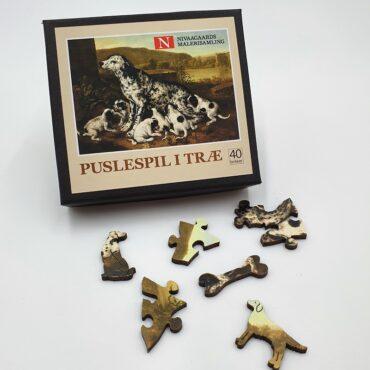 Wooden puzzle with 40 pieces (Pieter van der Hulst)