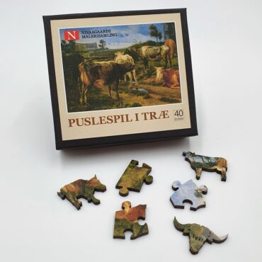 Wooden puzzle with 40 pieces  (J. Th. Lundbye)