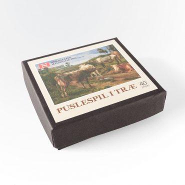 Træpuslespil med 40 brikker (J. Th. Lundbye)
