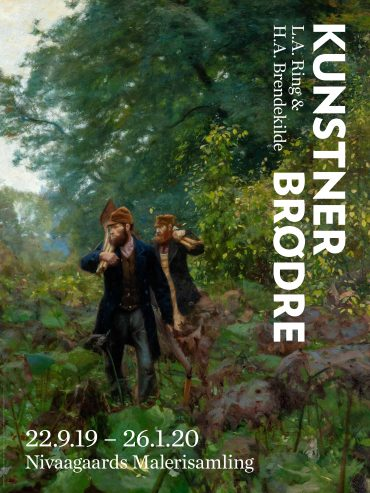 (Dansk) Kunstnerbrødre. L.A. Ring & H.A. Brendekilde. Plakat
