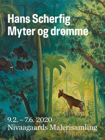 (Dansk) Hans Scherfig. Myter og drømme. Plakat